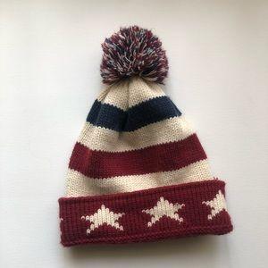 Accessories - 🌟Vintage American Flag Pom-Pom Beanie